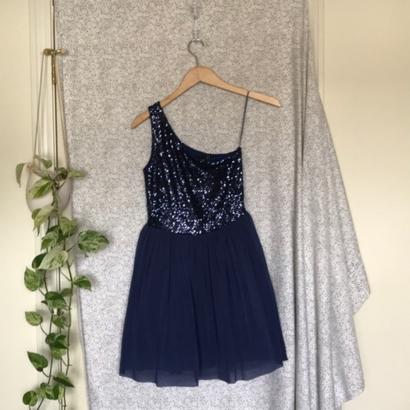 ASOS Dresses & Skirts - ASOS navy sequin party dress 👗